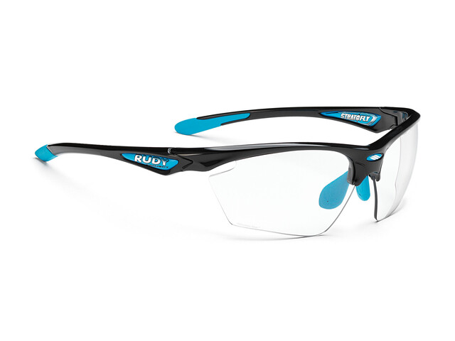 Rudy Project Stratofly Glasses Black Gloss/Light Blue Photoclear